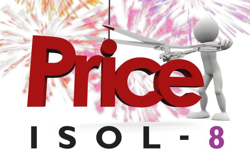 Мы пересмотрели розничную стоимость на всю продукцию ISOL-8
