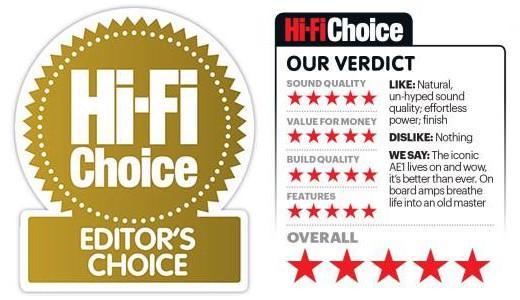 Acoustic Energy AE1 Active - Hi-Fi Choice Editor Choice