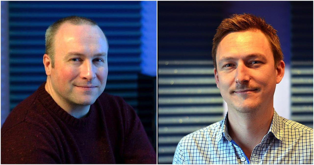 Слева бренд-менеджер Джеймс Люси, справа разработчик Мэт Спендл